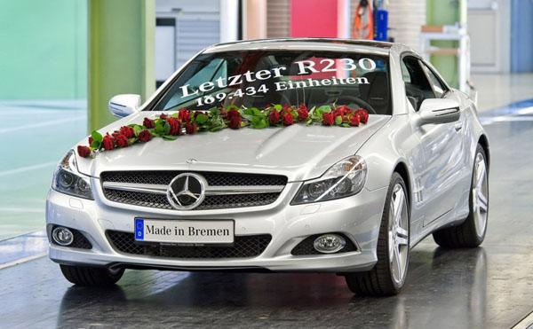 Производство Mercedes SL в кузове R230 остановлено