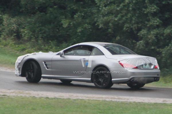 Шпионы обнаружили новый Mercedes-Benz SL63 AMG