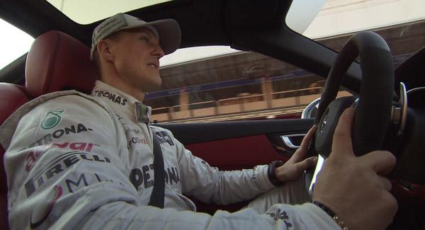 Шумахер прокатился на новом Mercedes SL63 AMG