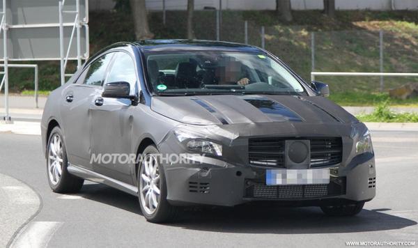 Шпионские фотографии нового Mercedes-Benz CLA