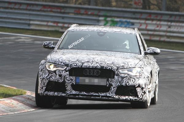 Шпионские снимки Audi RS6 2013 на Нюрбургринге