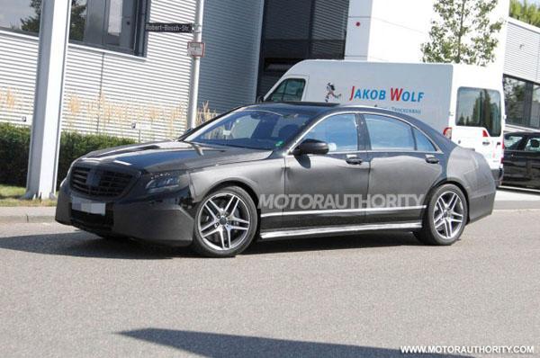 Шпионские фотографии Mercedes S63 AMG 2014