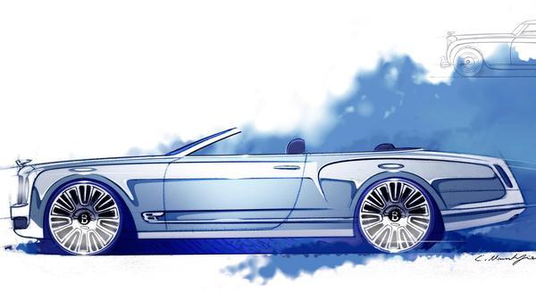 Bentley представила эскизы кабриолета Mulsanne