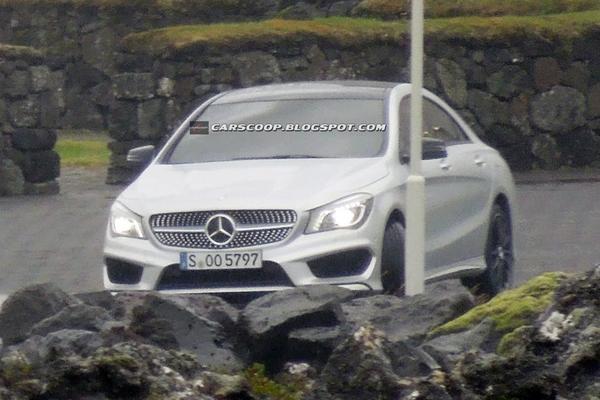Шпионские фото Mercedes-Benz CLA без камуфляжа
