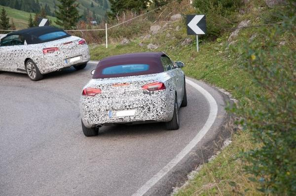 Шпионские снимки кабриолета Opel/Vauxhall Cascada