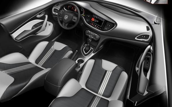 Dodge Dart 2013 стилизованный под рэпера Pitbull
