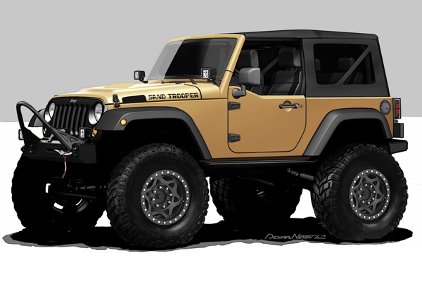 Mopar представит Jeep Wrangler Sand Trooper