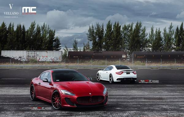Maserati GranTurismo MC Stradale с дисками Vellano