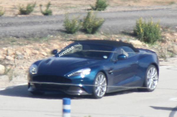 Шпионские фото Aston Martin Vanquish Volante