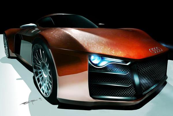 Audi готовит дизель-гибридный суперкар R10