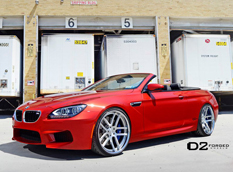 BMW M6 Convertible на колесах D2 Forged Wheels