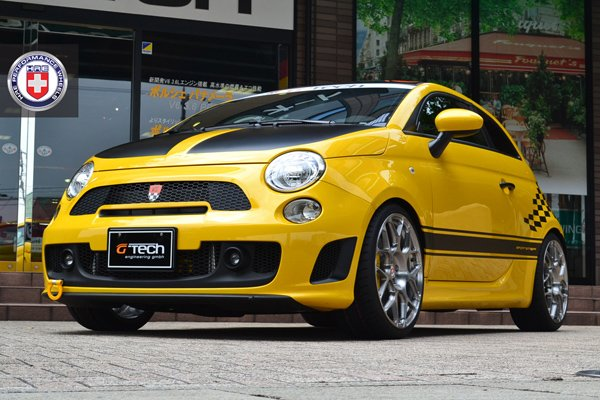 G-Tech Abarth 500 Sportster на дисках HRE Wheels