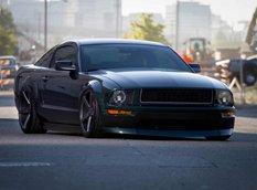Bullitt Mustang на вогнутых дисках Vossen Wheels