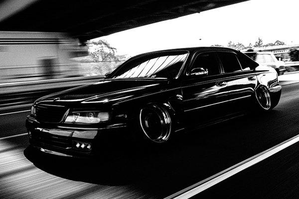 Lexus LS Avex Y33 - максимальное занижение