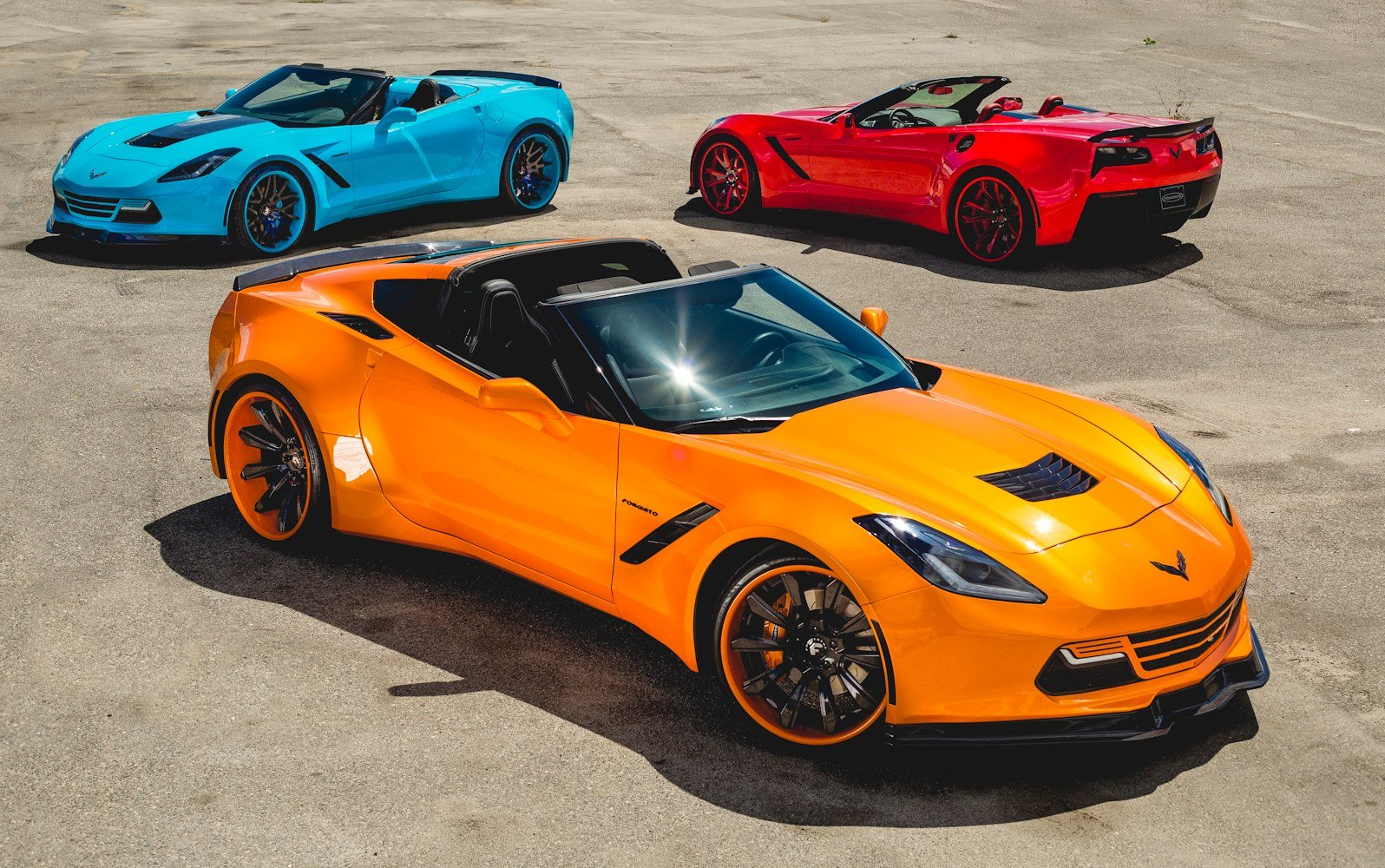 Corvette stingray 2018 orange