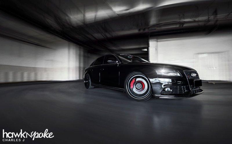 Доработанный Audi A4 в карбоновом обвесе S Line