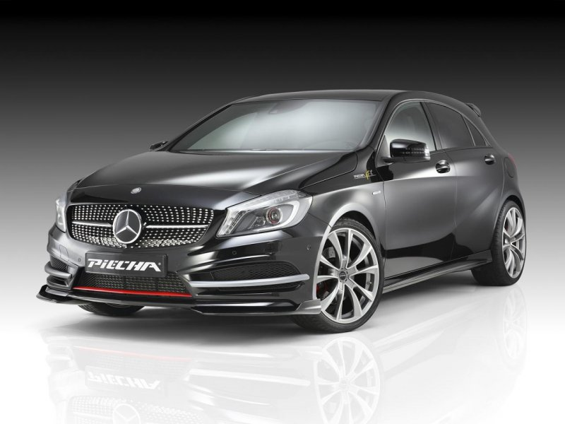 Mercedes-Benz A-Class (W176) с аксессуарами Piecha Design