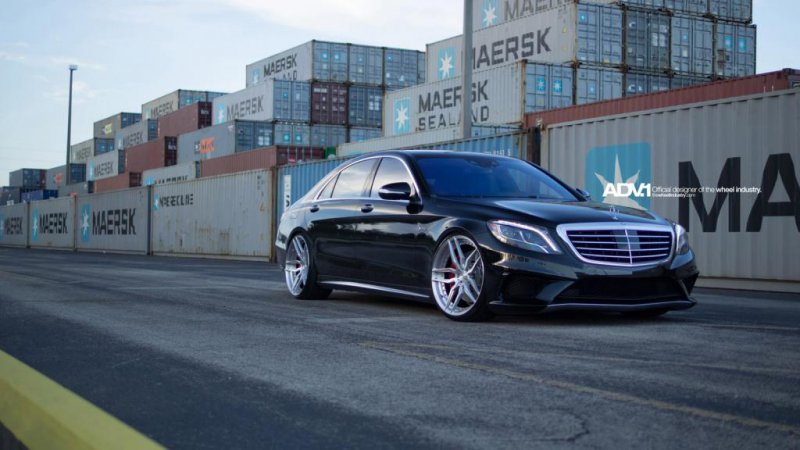 Mercedes S63 AMG S-model �� ������ ADV.1 Wheels