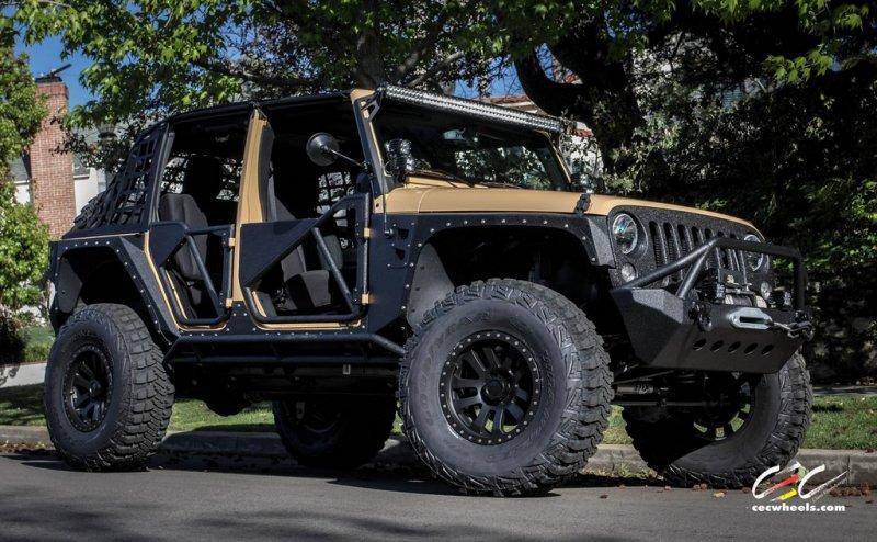 CEC Wheels подготовил Jeep Wrangler для жесткого бездорожья