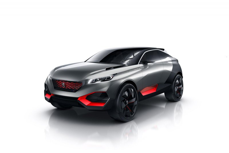 Peugeot привезет в Париж концепт 499-сильного кроссовера Quartz