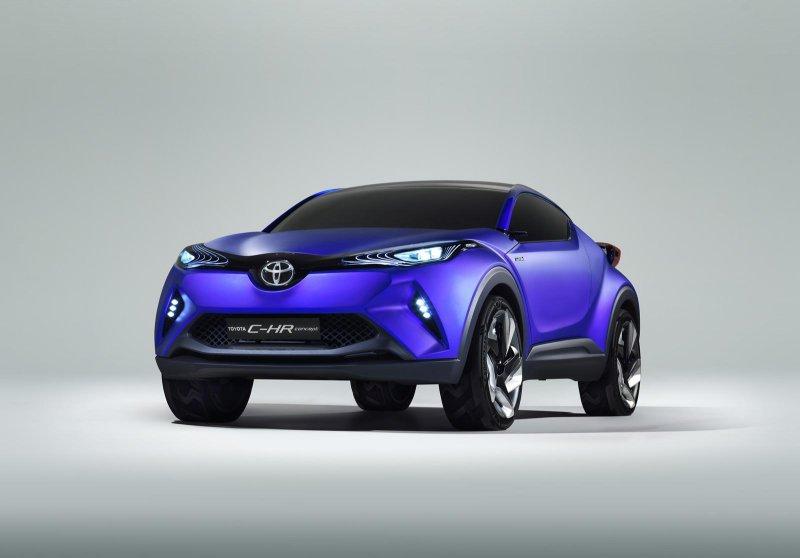 Toyota представит в Париже гибридный кроссовер C-HR
