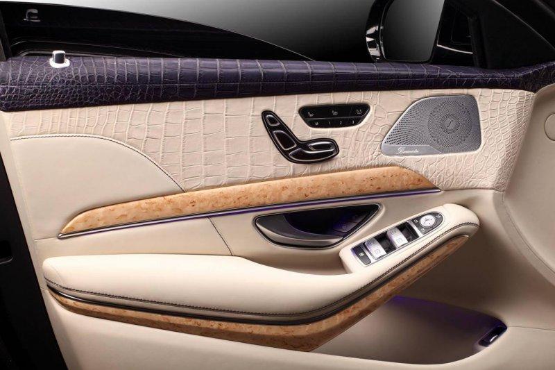 TopCar украсил крокодиловой кожей салон Mercedes S-Guard W222