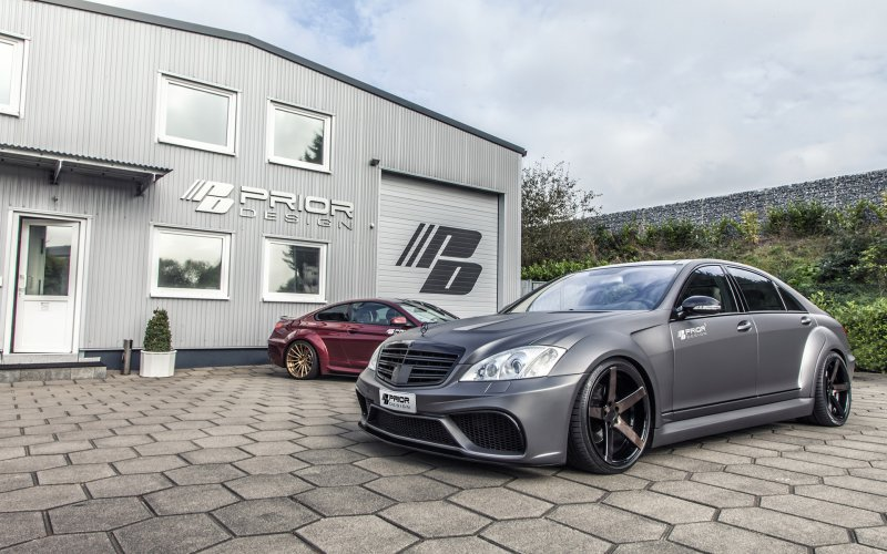 Mercedes-Benz S-Slass (W221) Black Edition V3 от Prior-Design