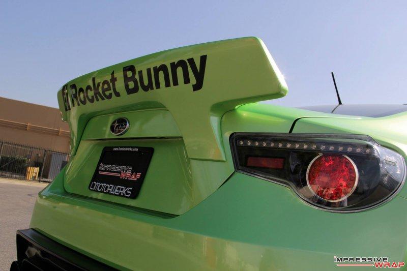 Impressive Wrap освежил экстерьер Subaru BRZ RocketBunny