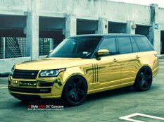 Золотой Range Rover от MC Customs