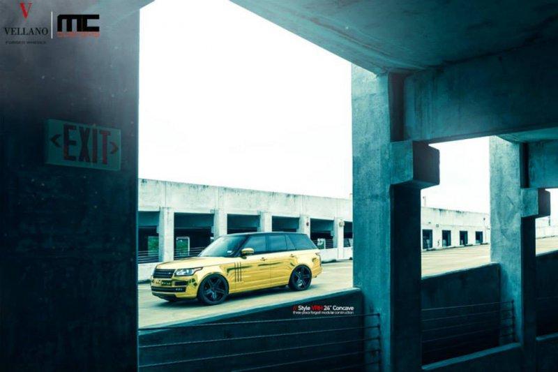 Золотой Range Rover от MC Customs