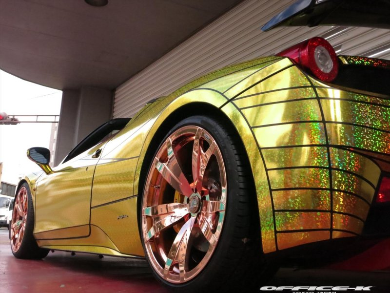 Ferrari 458 Italia Spider Golden Shark от Office-K
