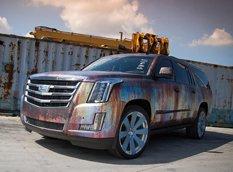Постапокалиптический Cadillac Escalade Rust Chrome от Metro Wrapz