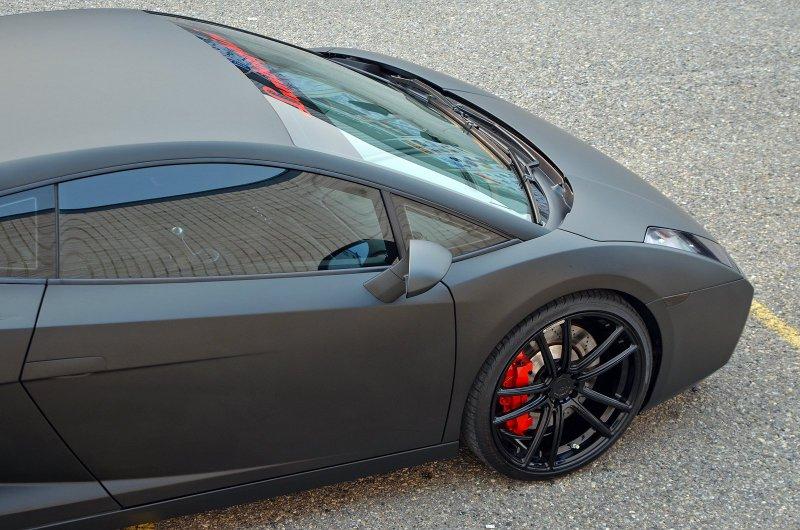 Черный матовый Lamborghini Gallardo от ZR Auto