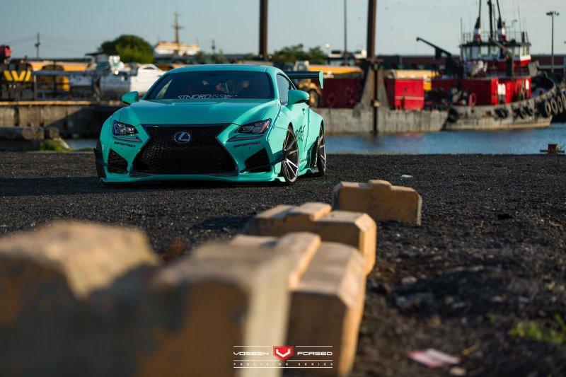 Lexus RC F в обвесах от Rocket Bunny
