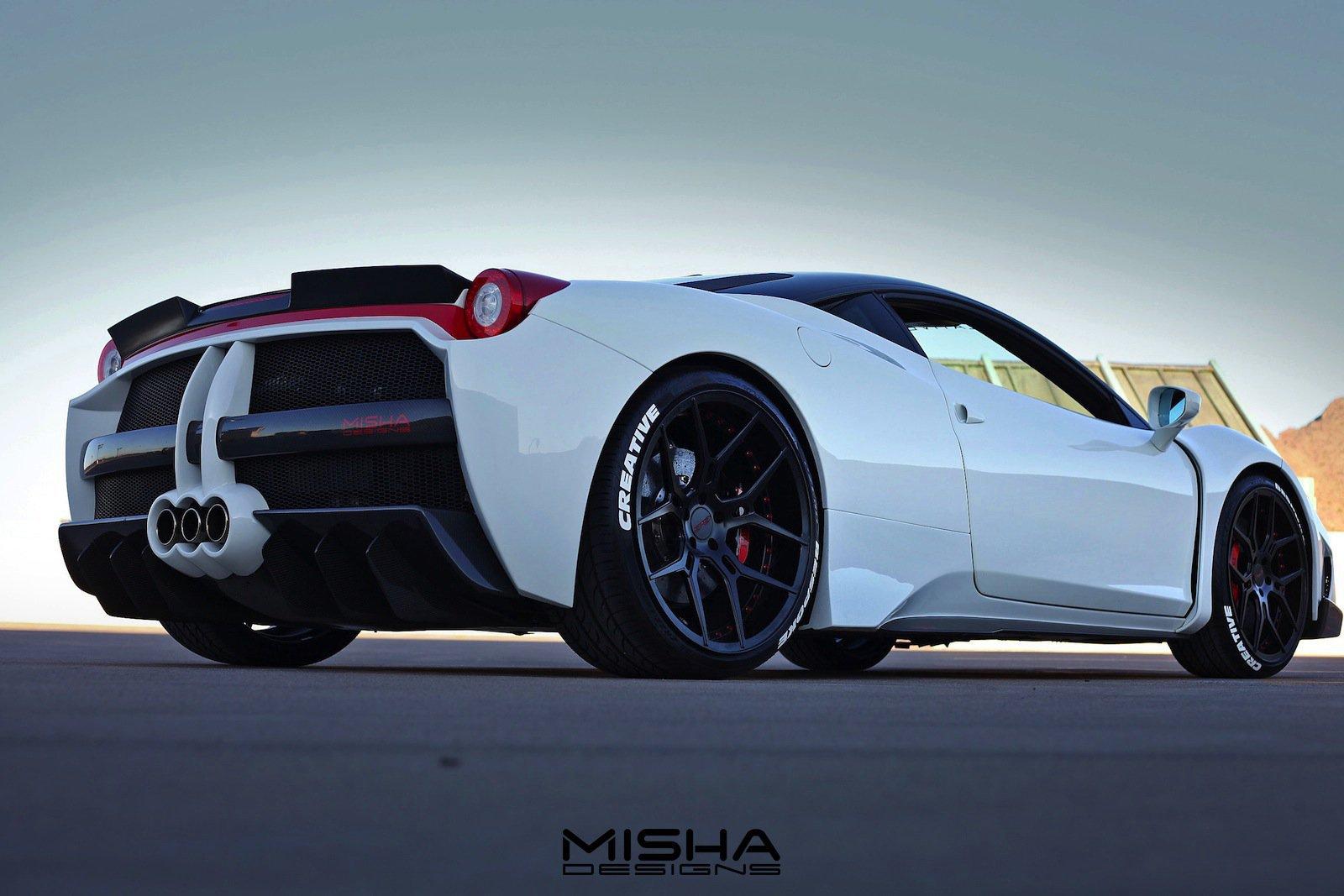 Ferrari 458 Italia с широким кузовом от Misha Designs