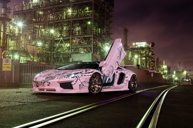 Lamborghini Aventador с обвесом от Liberty Walk