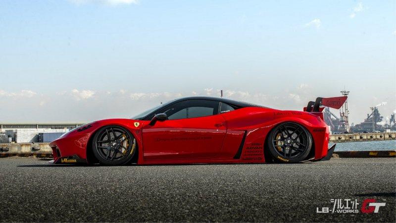 Ferrari 458 Italia в обвесе от Liberty Walk
