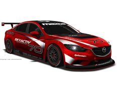 В LA показали болид Mazda 6 Grand-Am Series Racer