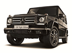 Mercedes G550 Night Edition - новинка для Японии