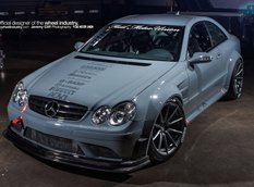 Mercedes CLK63 AMG Black на дисках ADV.1 Wheels