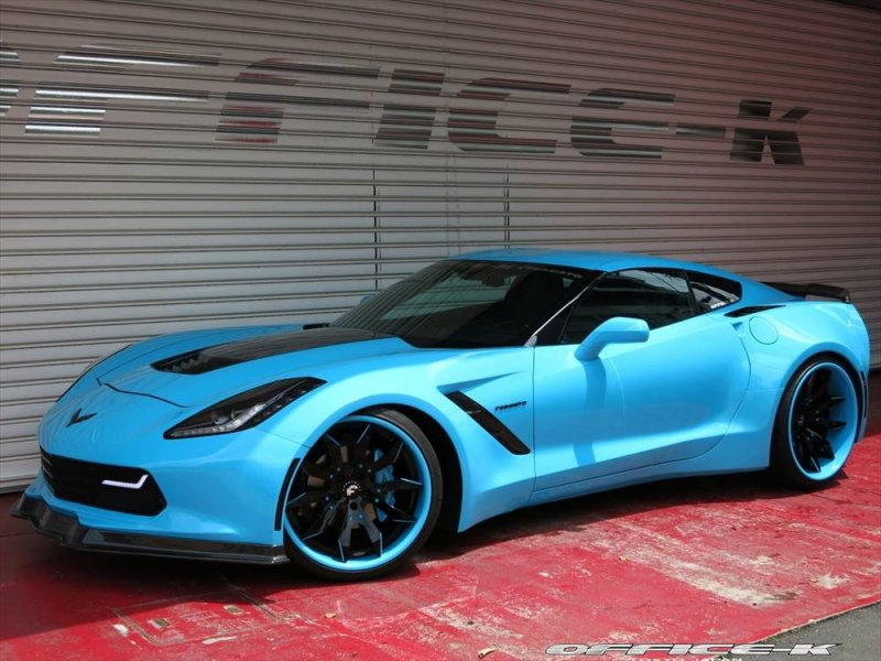 Chevrolet Corvette C7 Stingray в обвесе Forgiato от Office-K